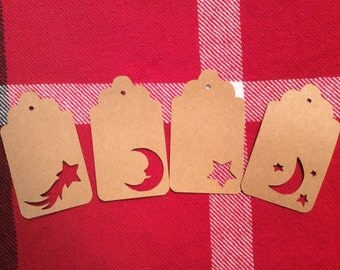 Die Cut Assorted Moon and Star Tags