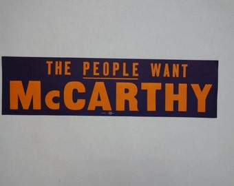 1968 Eugene McCarthy presidential election campaign bumper sticker