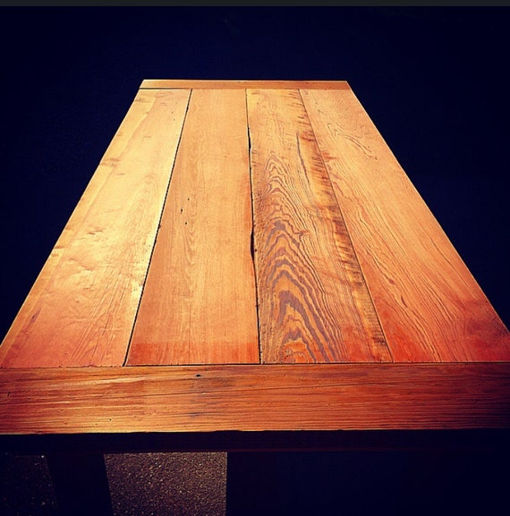 Reclaimed barn wood table 100 year old oak barn wood by for 100 year old oak table