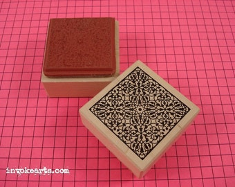 Lace Square Stamp / Invoke Arts Collage Rubber Stamps