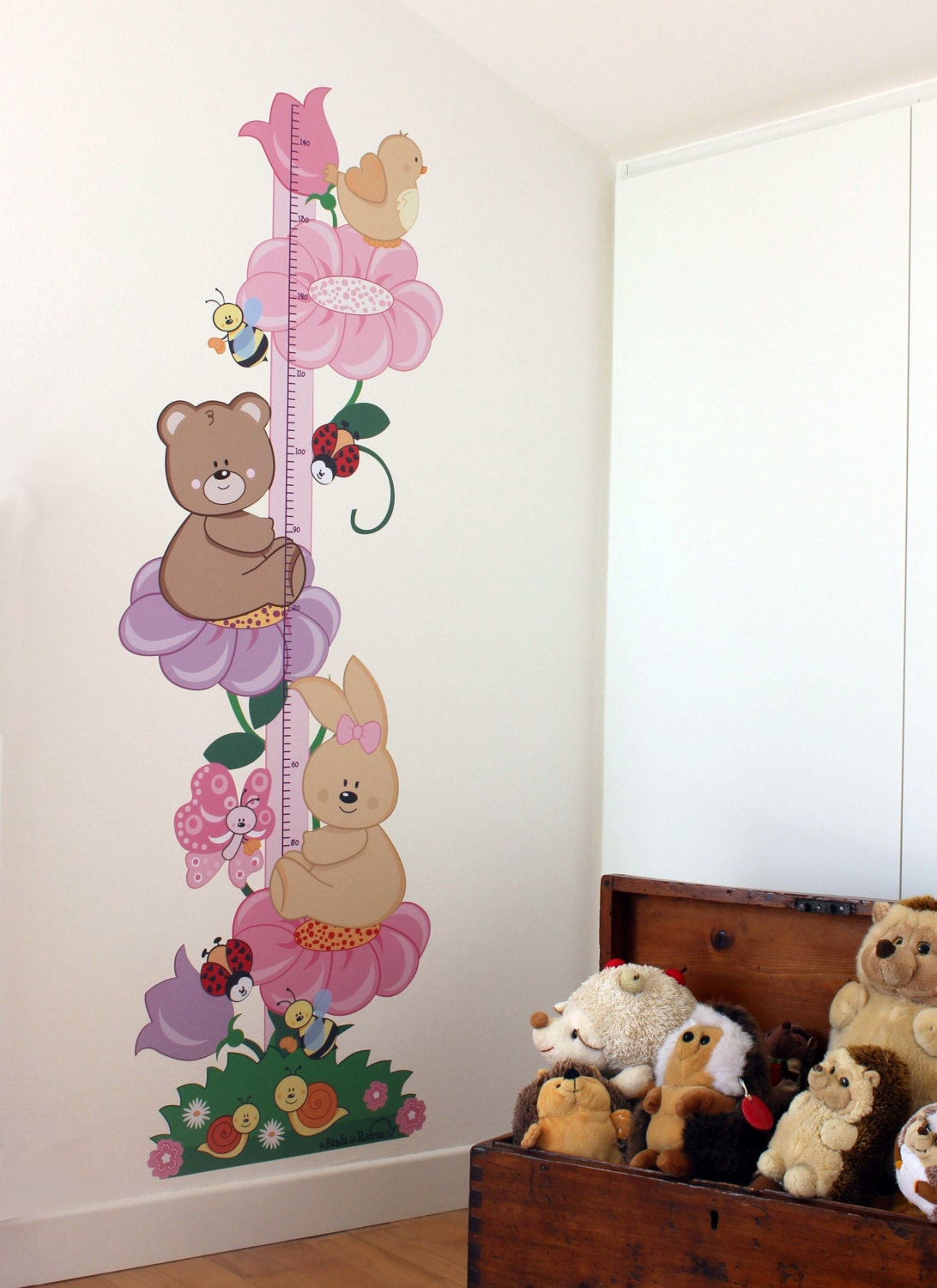 wall stickers bambine : Girl Growth Chart Wall Decals kids Wall by labandadelriccio