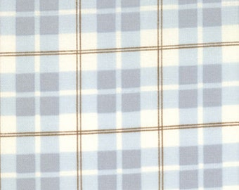 "Lily and Will posh plaid blue by Bunny Hill for Moda - 2806 12 - 44"" wide - price per 1 yard"