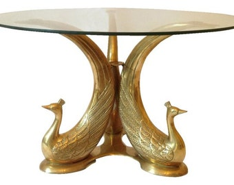Popular items for coffee end table on etsy for Peacock coffee table