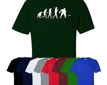 Evolution Of Man Hockey T-shirt Sport Fitness Gym Print Fun Womens Mens UK Ships Worldwide