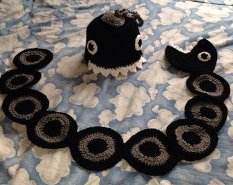 Super Mario Chain Chomp Hat and Scarf set