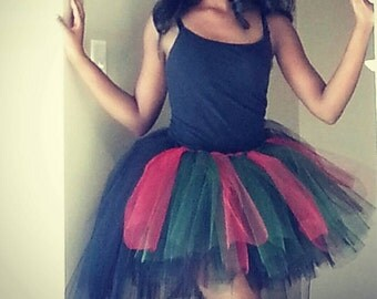 African Pride Inspired High-Low Tutu Skirt For Women