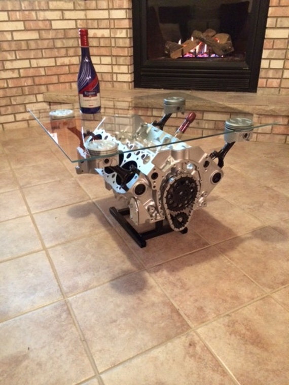 small block chevy coffee table motor table man cave