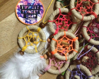 Keychain-Mini Dreamcatcher for SweetDream ,Colorful&Happiness