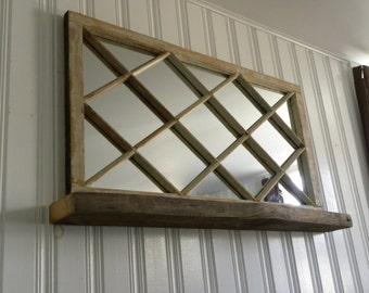 Antique Window Mirror