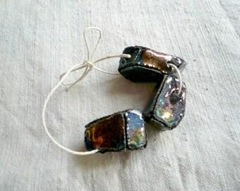 perle raku - perle raku per collane - perle in ceramica raku - perle handmade - perle in ceramica