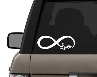 Love & Infinity Car Decal Sticker