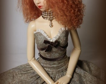 Sage Meadow~OOAK dress for Elfdoll or SD