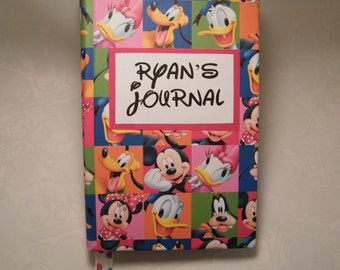 Personalized Disney journal, smash book or scrapbook - great gift for Disney lovers young and young at heart!