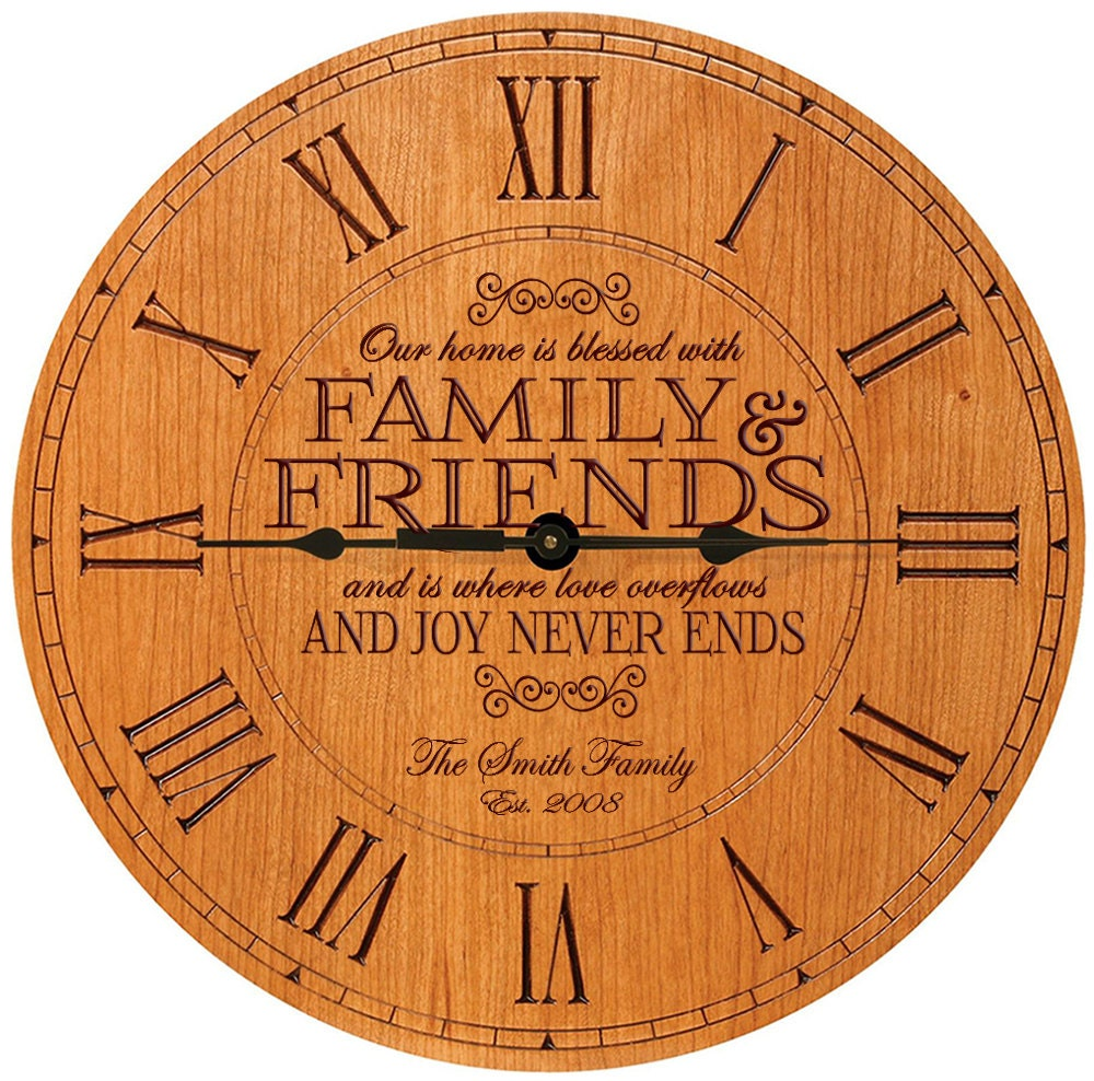 personalized wall clock wedding clock parent by welovefamily. Black Bedroom Furniture Sets. Home Design Ideas