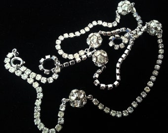 Last Chance...5 Dollars!! -Rhinestone Balls on a Chain Necklace - Sparkly!