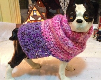 Boogie Nights, Dog Sweater, pink dog sweater, purple dog sweater, pink dog sweaters,dog sweaters, knit dog sweaters, small dog sweater
