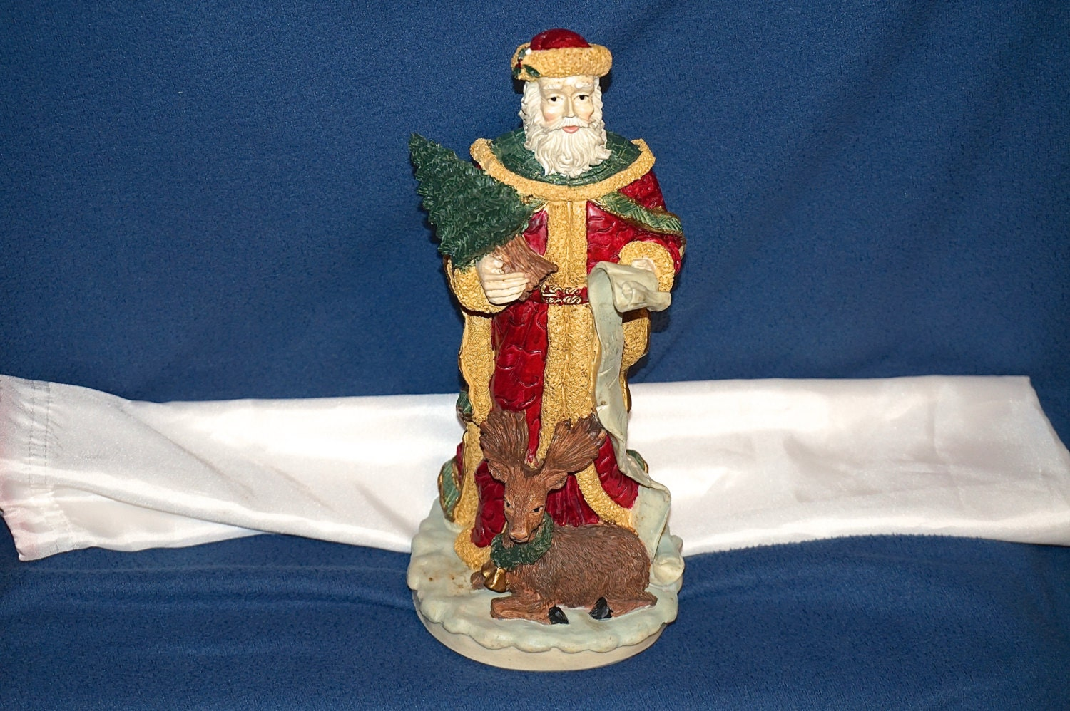 S molded hand painted figurine tall art