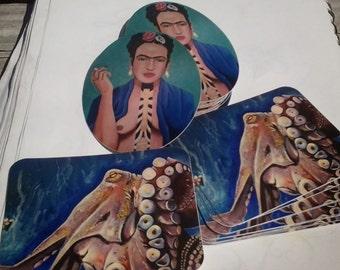 Octopus & Frida stickers