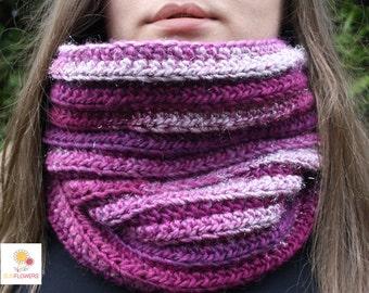 Handmade crochet wool neck warmer, gift idea