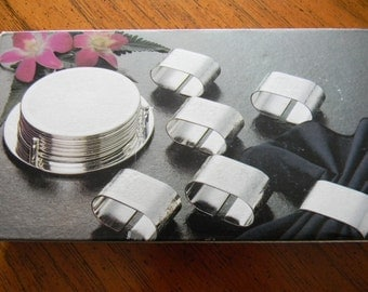 Silversmith Silverware Silver Plated Coasters and Napkin Rings