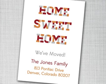Address Change We Moved Cards 4 x 6 Home Sweet Home