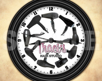 Hairdresser Hairstylist Cosmetologist Personalized Wall Clock - Salon Decor
