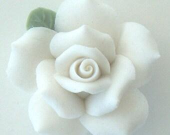 """White Porcelain Roses - 1"""""""