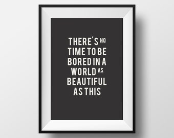Typography, typographic art, Art, Print, typographic print, beautiful, world, Instant Download, Printable, life quote, motivational poster