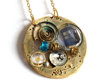 Steampunk Sonic Doctor Who Necklace