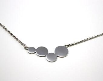 circles pendant, handmade 925 Silver