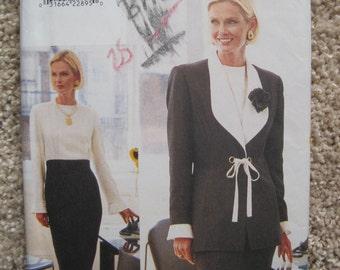 UNCUT Vogue Misses Jacket and Dress - Size 8, 10, 12 - Pattern 9390 - Vintage 1995