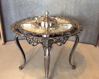 Cast Iron Table with Revolving Tray Top