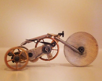 Steam punk style watch part trike. #007