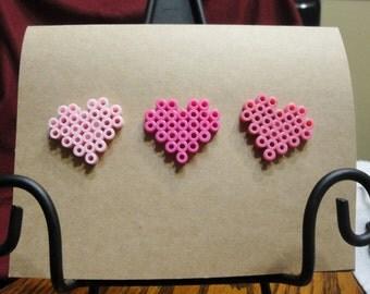 Heart Perler Bead Greeting Card