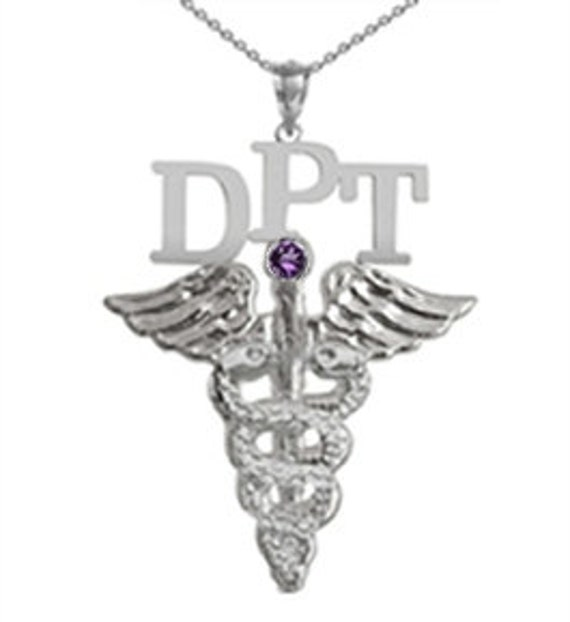 doctor of physical therapy dpt silver necklace jewelry