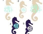 Seahorse Monogram Decal