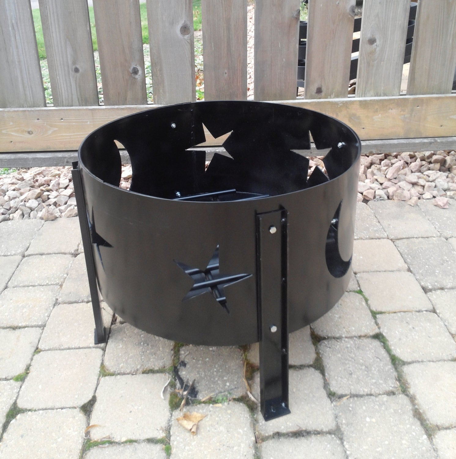 Portable Outdoor Fireplace Fire Pit Fire Ring By KLIron On Etsy