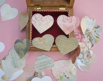 sweet nothings paper hearts garland