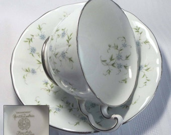 Free Shipping Northumbria ENCHANTMENT Bone China Tea Cup and Saucer - Made in England