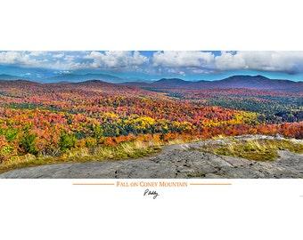 Adirondack Landscape - Fall on Coney Mountain