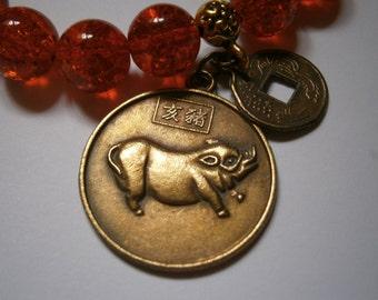 Chinese Zodiac Bracelet Pig