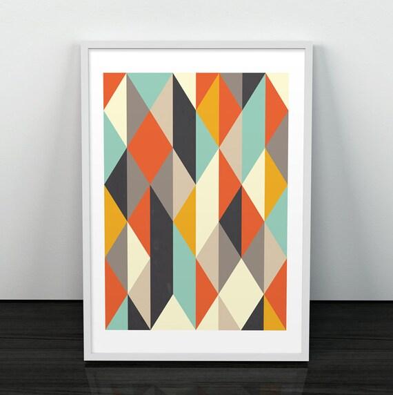 Art geometrische abstrakte kunst plakat von shoptempsmodernes for Minimal art kunst