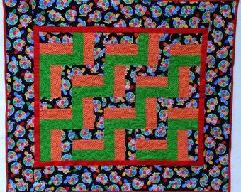 Handmade baby quilt - Turtles,turtle, turtles!
