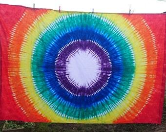 Chakra Healing Sheet, Chakra Therapy sheet,Tie dye Sheet, Chakra Rainbow, Healing sheet, Single bed sheet, Double bed sheet, Flat Sheet
