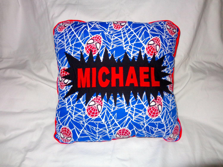 Glow In The Dark Spider Man Pillow