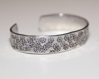 Snowflake Bracelet, Lake Effect Cuff