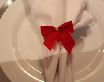 Red Bow Napkin Ring