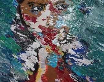 Sinking. Abstract. Acrylic.