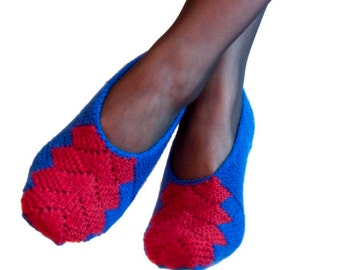 Black Friday Sale - Cyber Monday - Knit Knitted Slippers Socks For Women Of Wool and Acrylic