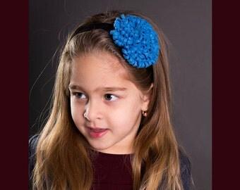 FELT POM POM flower headband / girls headband / hair accessories / baby headband